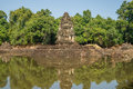 Neak pean temple at the angkor wat historical site area Stock Images