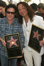 Neal schon steve augeri and at journey s induction into the hollywood walk of fame hollywood blvd hollywood ca Royalty Free Stock Image
