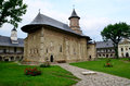 Neamt inner cloister the church of of the holy monastery in moldavia romania one of the oldest and full of history monasteries Royalty Free Stock Photos