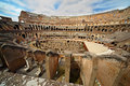 Near center of arena in ancient Coliseum Stock Photography