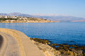 Near Rhetymno harbour at the island of Crete Stock Image