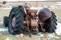 Near vik iceland feb rusty tractor abandoned in iceland o on Stock Photography