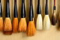 Neat brush for chinese paint paint,chinese painting Royalty Free Stock Photos