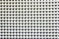 Neat rows of white ball Royalty Free Stock Photo
