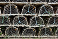 Neatly Stacked Lobster Traps Stock Photography