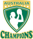 Neball player Australia Champions Stock Photo