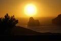Nebida west coast of sardinia italy Royalty Free Stock Image