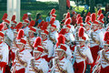 Nebraska Marching Band in Gator Bowl Parade Royalty Free Stock Image