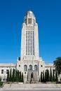 Nebraska State Capitol Tower Dome Royalty Free Stock Photo