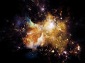 Nebula background universe is not enough series composition of fractal elements lights and textures with metaphorical relationship Royalty Free Stock Photo