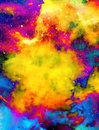 Nebula, Cosmic space and stars, color background. fractal effect. Painting effect. Elements of this image furnished by Royalty Free Stock Photo