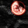 Nebular clouds 3d illustration Royalty Free Stock Photo