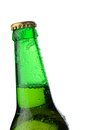 Neck of bottle beer Royalty Free Stock Photo