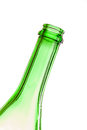 The neck of an empty bottle at an angle Royalty Free Stock Photo