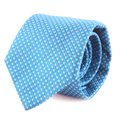 Neck tie rolled up on a white background Royalty Free Stock Images
