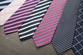 Neck ties group of colorful male Stock Images