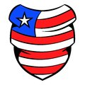 Neckerchief in USA flag colors icon cartoon