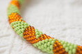 Necklace fragment with geometrical drawing close up Stock Photography