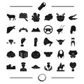 Necklace, jewel ,animal, taxi and other web icon in black style. police, computer, travel icons in set collection.