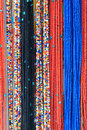 Necklaces the background of colorized Royalty Free Stock Photography
