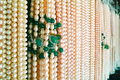 Necklaces the background of pearl neckaces Royalty Free Stock Photos