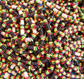 Necklaces bunch of colorful beaded Royalty Free Stock Photo