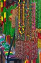 Necklaces colourful and strings of beads on display Royalty Free Stock Photography