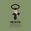 Necktie green vector illustration Stock Photography