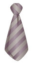 Necktie grey and purple isolated on white Royalty Free Stock Photos