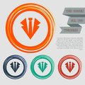 Necktie icon on the red, blue, green, orange buttons for your website and design with space text. Royalty Free Stock Photo