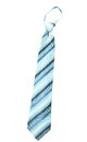 Necktie isolate blue stripe on white background Royalty Free Stock Photos
