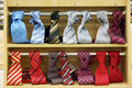 Necktie shop Stock Images