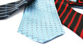 Neckties colorful isolated on white background Stock Images