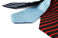 Neckties colorful on white background Royalty Free Stock Photography