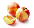 Nectarine in closeup fresh ripe Stock Image