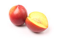 Nectarine fruit isolated on white background cutout Stock Photography
