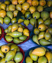Nectarine peach for sale at thailand market Royalty Free Stock Images