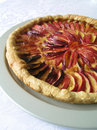 Nectarine Pie on Dessert Plate Stock Photography