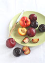 Nectarine and plums Stock Photo