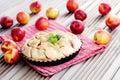 Nectarine tart delicious homemade sweet food Stock Photography
