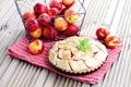 Nectarine tart delicious homemade sweet food Royalty Free Stock Image