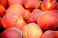 Nectarines background of ripe in a market Stock Photo
