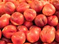 Nectarines on display at fruit market Royalty Free Stock Image