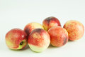 Nectarines fresh on white background Stock Photography