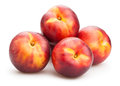 Nectarines group on white background Royalty Free Stock Image