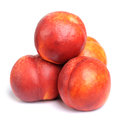 Nectarines isolated Stock Photo