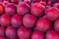 Nectarines in the market new harvest fresh closeup Royalty Free Stock Photos