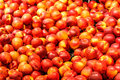 Nectarines red ripe wholesale in a fruit market Royalty Free Stock Images