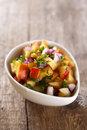 Nectarines salsa sauce Royalty Free Stock Photo