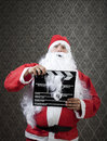 Need a break santa invades hollywood with confidence Royalty Free Stock Image